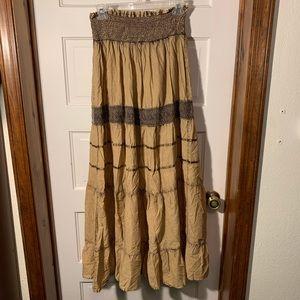 Anthropologie Day Trip Boho Maxi Skirt Lagenlook